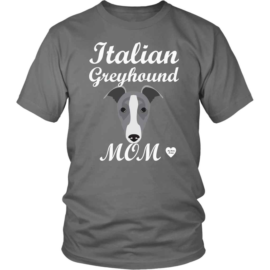 italian greyhound mom grey t-shirt