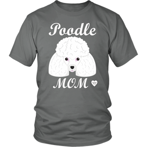 Poodle Mom grey t-shirt