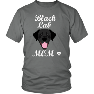 Black Lab Mom grey t-shirt