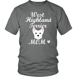 west highland terrier t-shirt grey