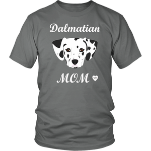 dalmatian mom t-shirt grey