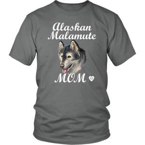 Alaskan Malamute Mom T-Shirt Grey