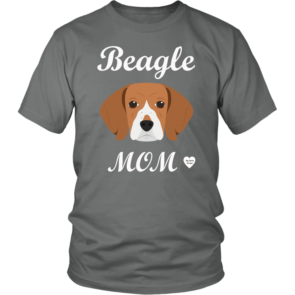 beagle mom t-shirt grey