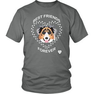 australian shepherd best friends t-shirt grey