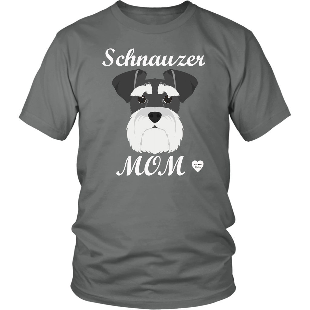 Schnauzer Mom grey t-shirt