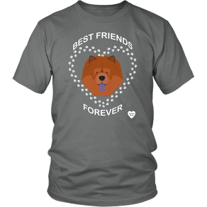 Chow Chow Best Friends Forever T-Shirt Grey