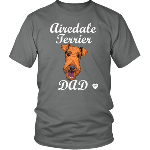 Airedale Terrier Dad T-Shirt Grey