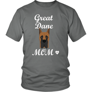 great dane mom grey t-shirt