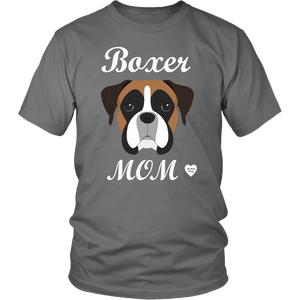boxer mom grey t-shirt