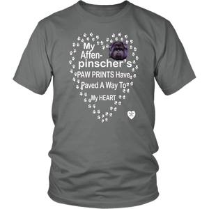 My Affenpinscher Paw Prints T-Shirt Grey