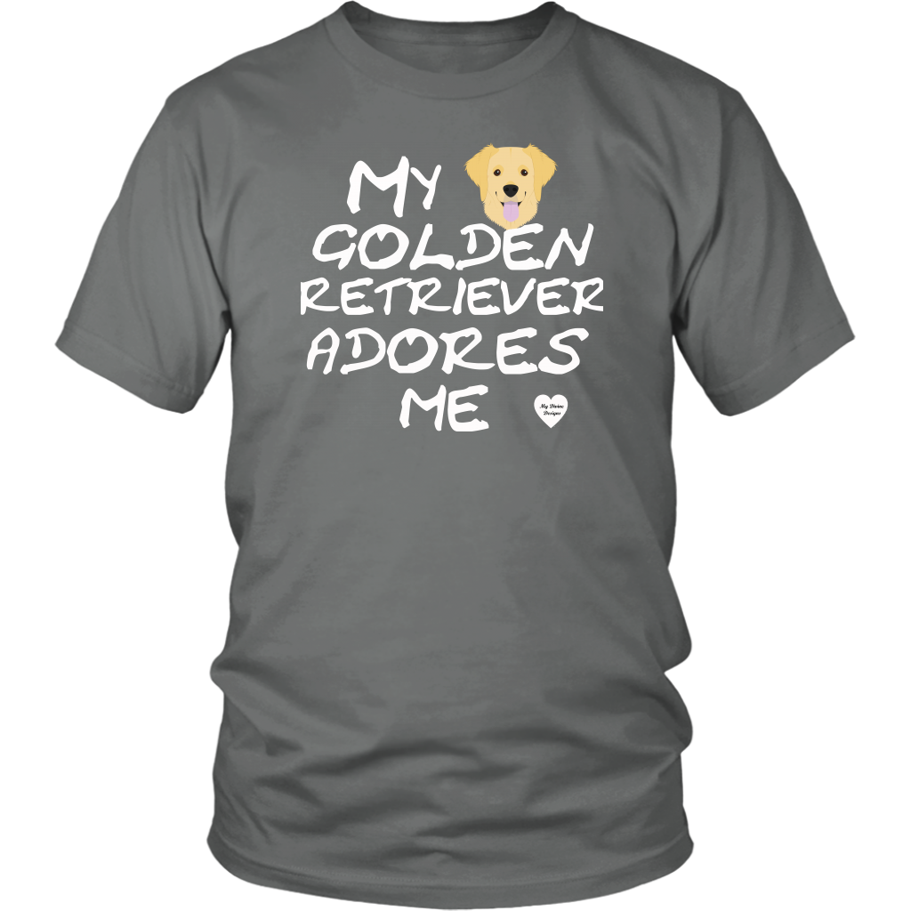 Golden Retriever Adores Me T-Shirt Grey