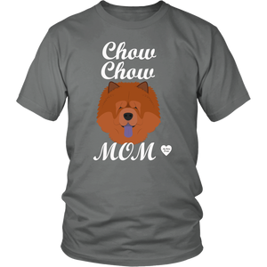chow chow mom t-shirt grey
