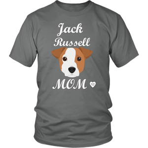 jack russell mom t-shirt grey