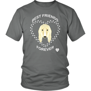 Afghan Hound Best Friends Forever T-Shirt Grey