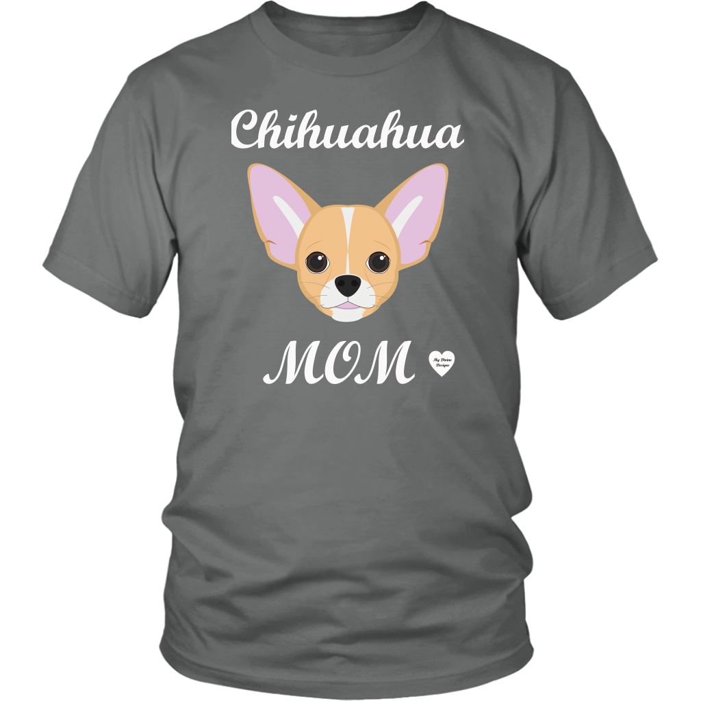 chihuahua mom grey t-shirt