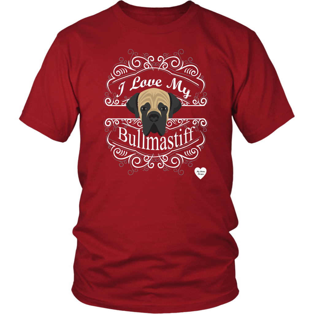 I Love My Bullmastiff T-Shirt Red