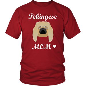 pekingese mom t-shirt red
