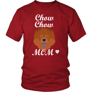 chow chow mom t-shirt red