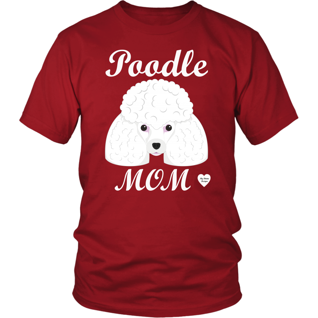 Poodle Mom red t-shirt