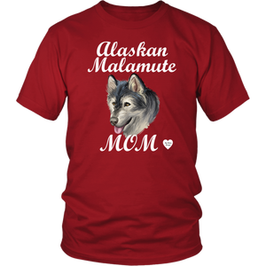 Alaskan Malamute Mom T-Shirt Red