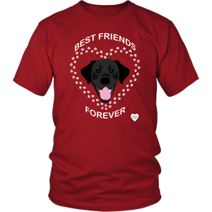 Black Lab Best Friends Forever T-Shirt