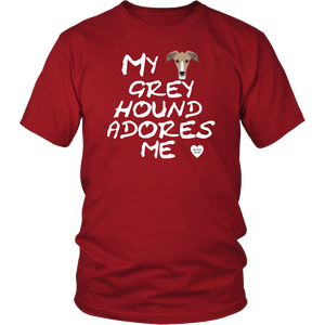 Greyhound Adores Me T-Shirt Red