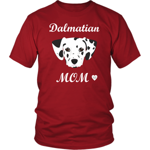 dalmatian mom t-shirt red