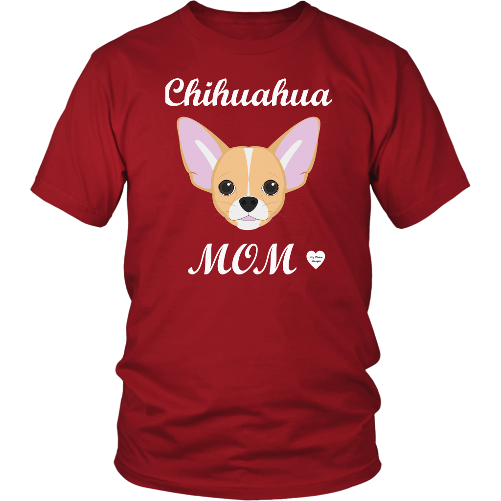 chihuahua mom red t-shirt