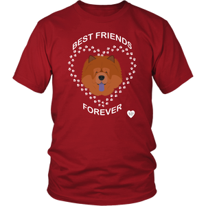 Chow Chow Best Friends Forever T-Shirt Red