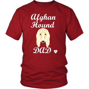 Afghan Hound Dad T-Shirt Red