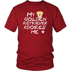 Golden Retriever Adores Me T-Shirt Red