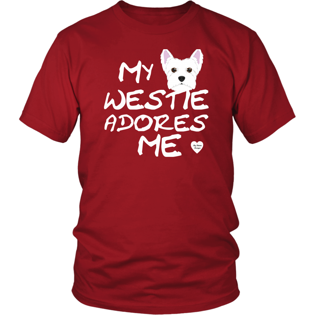 Westie Adores Me T-Shirt Red