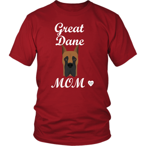 great dane mom red t-shirt