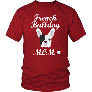 french bulldog mom red t-shirt