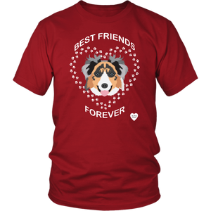 australian shepherd best friends t-shirt red
