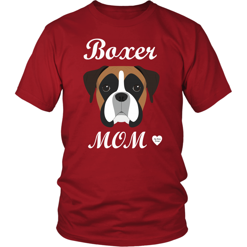 boxer mom red t-shirt