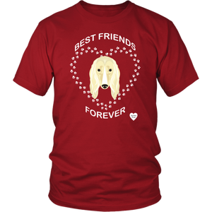 Afghan Hound Best Friends Forever T-Shirt Red
