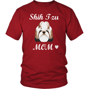 shih tzu mom t-shirt red