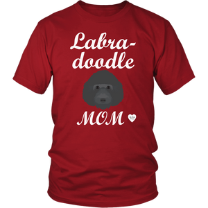 labradoodle mom t-shirt red