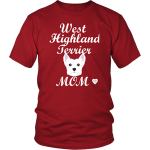 west highland terrier t-shirt red