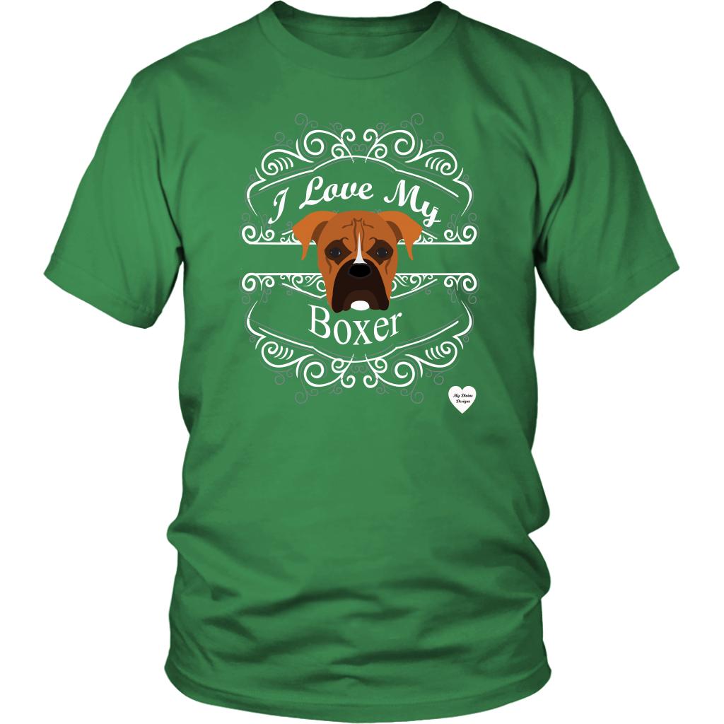 I Love My Boxer T-Shirt Kelly Green