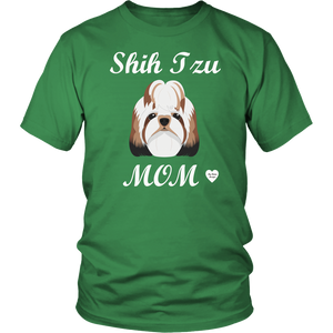 shih tzu mom t-shirt kelly green