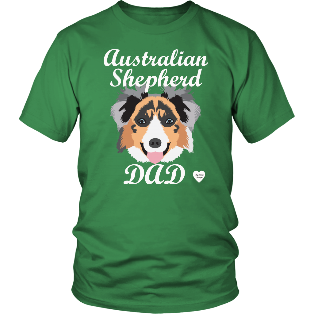australian shepherd dad t-shirt kelly green