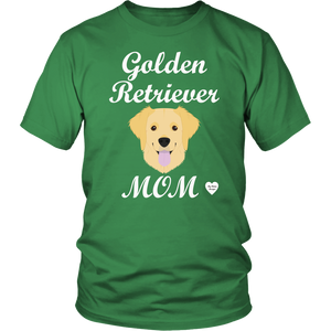 golden retriever mom kelly green t-shirt