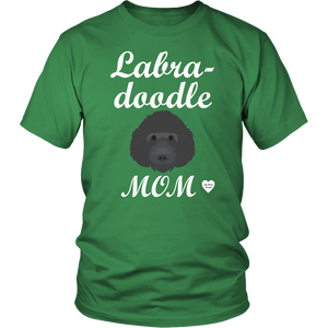 labradoodle mom t-shirt kelly green
