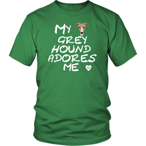 Greyhound Adores Me T-Shirt Kelly Green