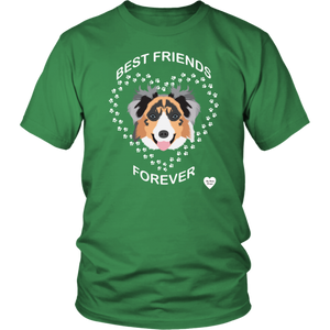 australian shepherd best friends t-shirt kelly green