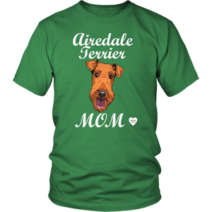 airedale terrier mom t-shirt kelly green