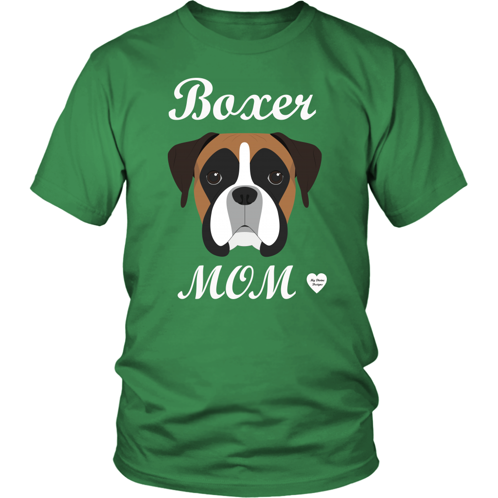 boxer mom kelly green t-shirt