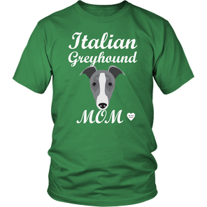 italian greyhound mom kelly green t-shirt